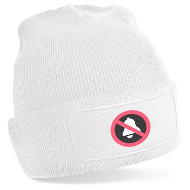 Picture of Emoji Bell With Cancellation Stroke Beanie Hat