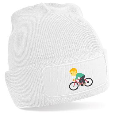 Picture of Emoji Bicyclist Beanie Hat