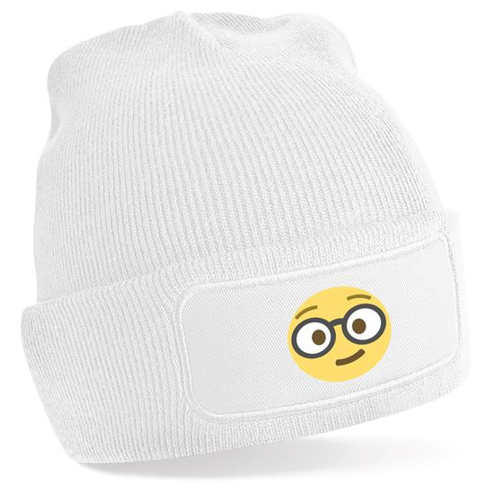 Emoji Nerd Face Beanie Hat. Available in many colours. Free delivery ... 93d8f5f4a4b6