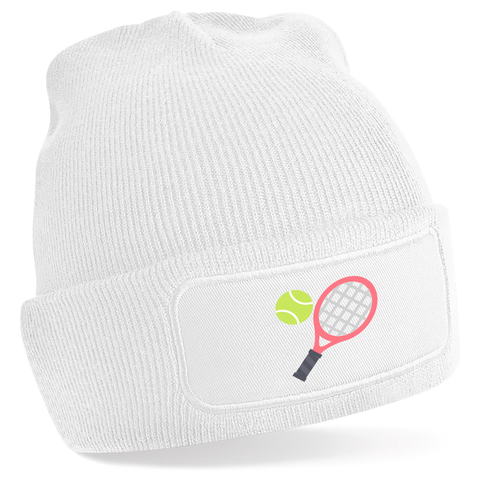 Emoji Tennis Racquet And Ball Beanie Hat. Available in many colours ... 1f968382884