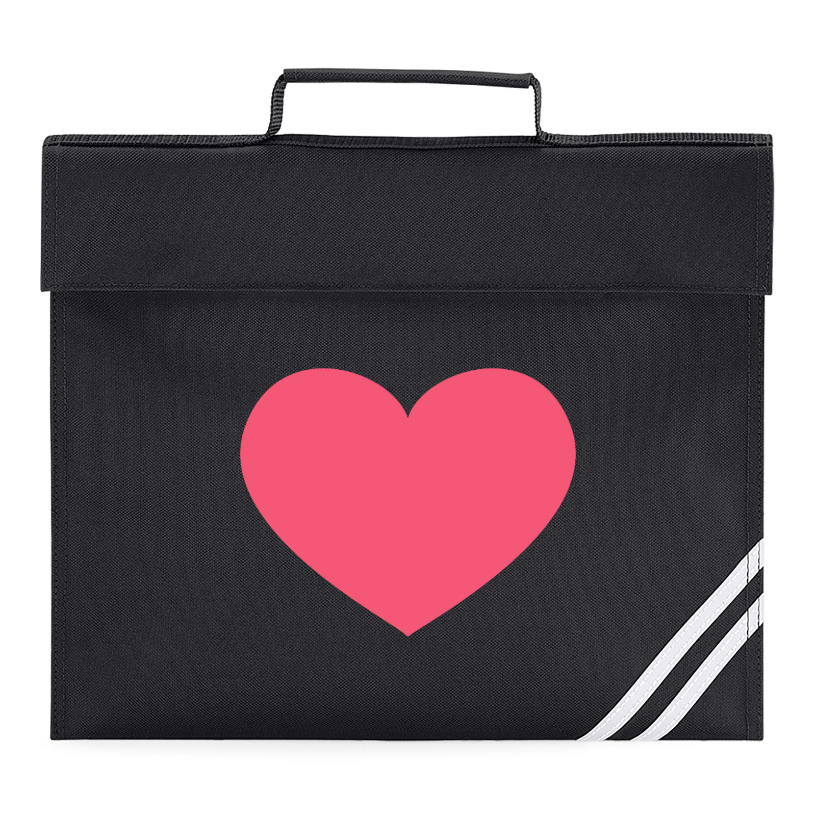 ecd80d962c69 Emoji Heavy Black Heart Book Bag. Available in many colours. Free ...