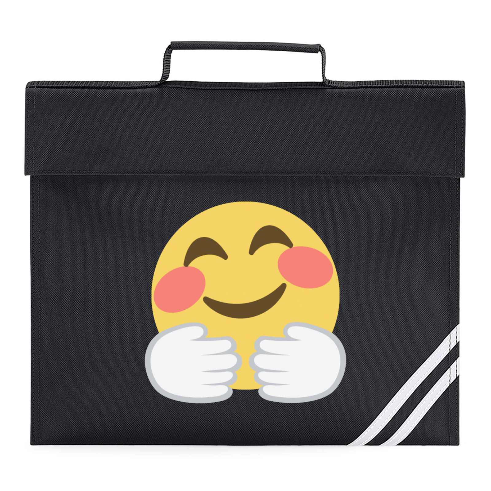 Emoji Hugging Face Book Bag Available In Many Colours Free