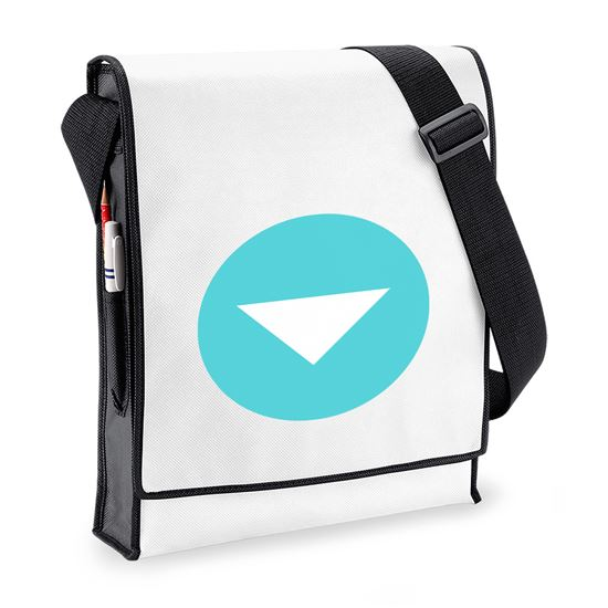 Emoji Down Pointing Small Red Triangle Budget Messenger Bag