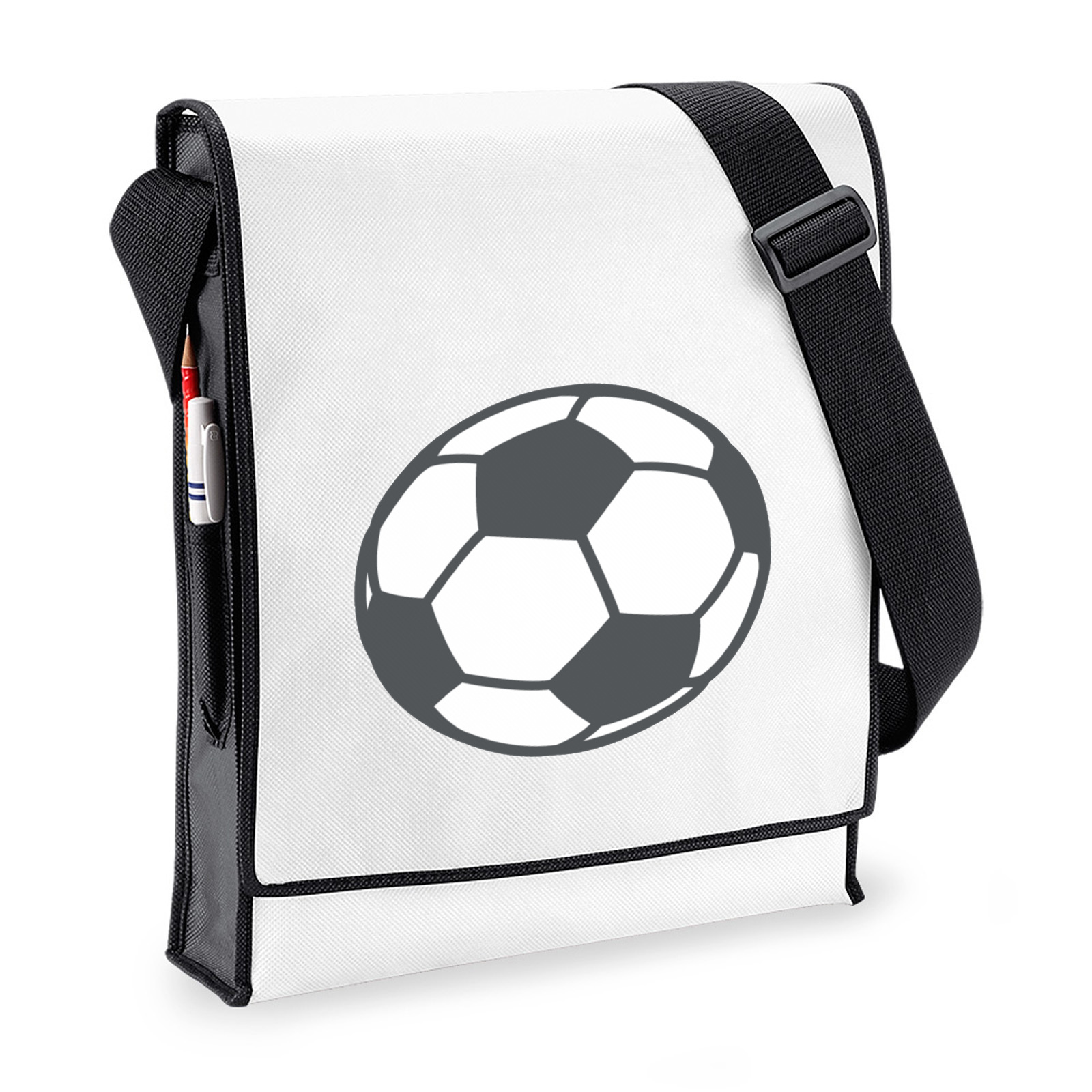 5d8d3024ee Emoji Soccer Ball Budget Messenger Bag. Available in many colours ...