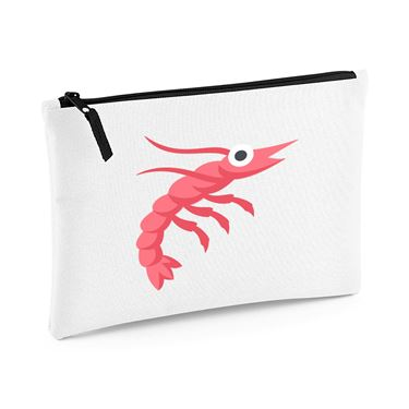 Picture of Emoji Shrimp Large Flat Pencil Case