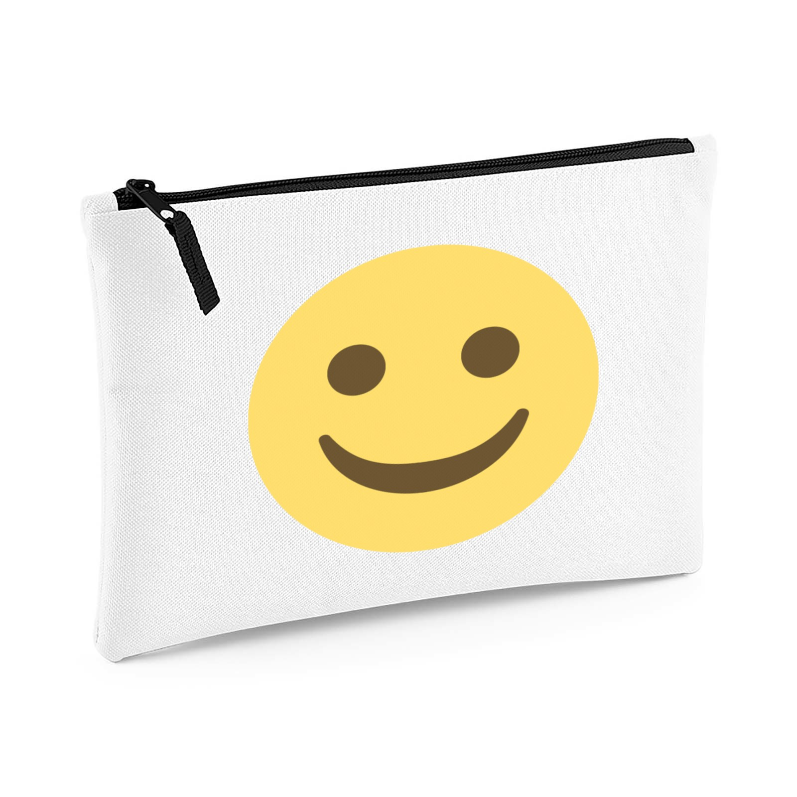 f8c7f24d62a5 Emoji White Smiling Face Large Flat Pencil Case. Available in many ...