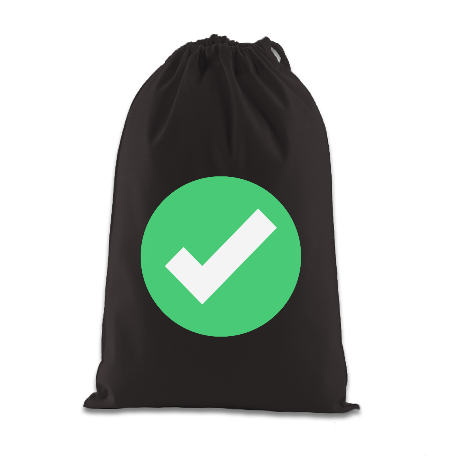 emoji white heavy check mark gift bag available in many colours