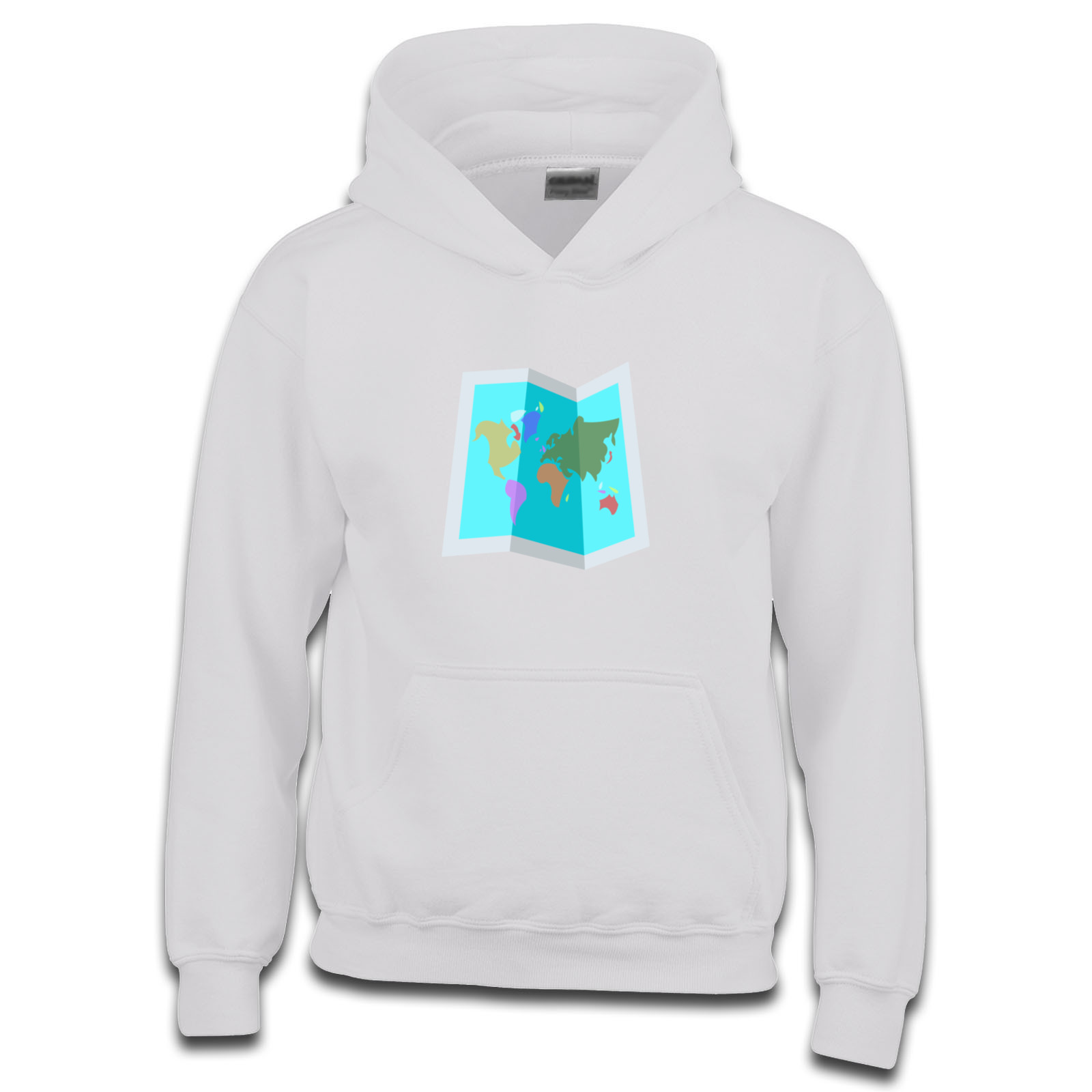 Emoji World Map Girls Hoodie Available In Many Colours Free