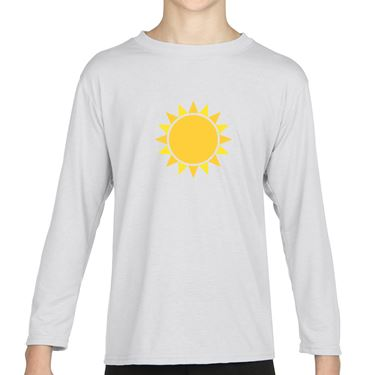 Picture of Emoji Black Sun With Rays Girls Long Sleeve Tshirt
