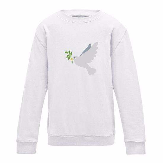 Emoji Dove Of Peace Girls Sweatshirt