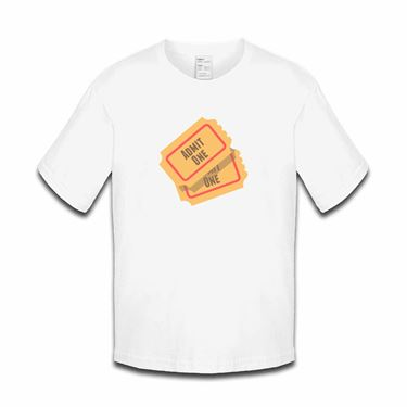 Picture of Emoji Admission Tickets Girls Tshirt