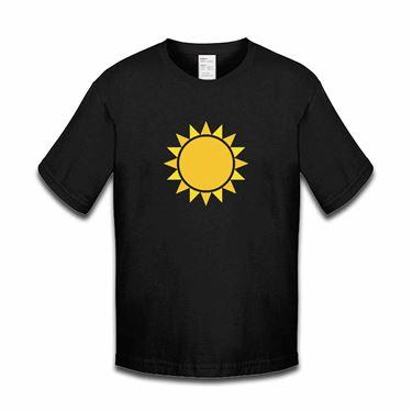Picture of Emoji Black Sun With Rays Girls Tshirt