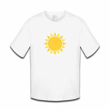Picture of Emoji Black Sun With Rays Girls Tshirt