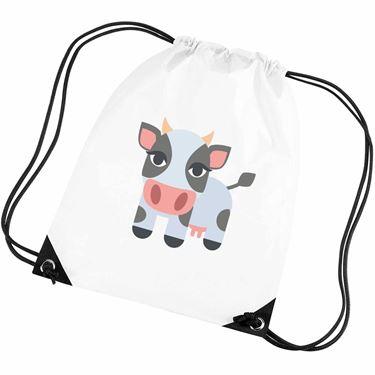 Emoji Cow Gym Bag