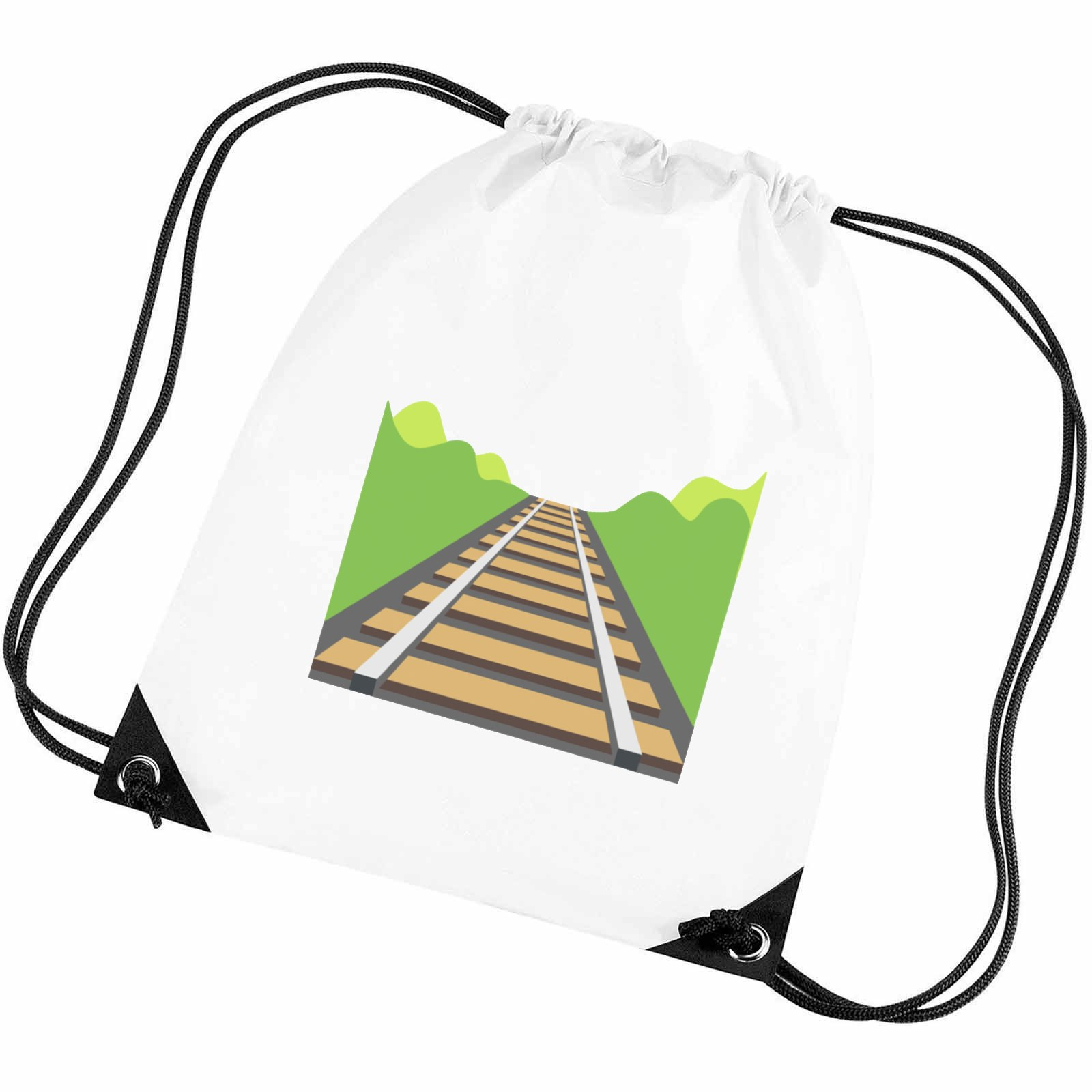 f77a4bd36775 Emoji Railway Track Gym Bag. Available in many colours. Free ...