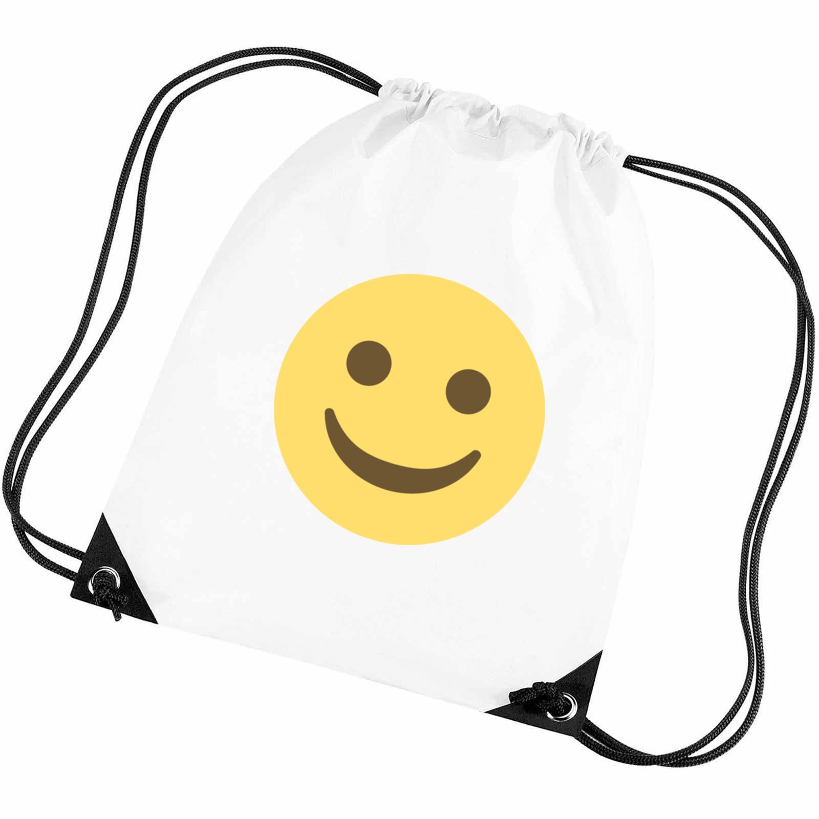 feae616b6003 Emoji White Smiling Face Gym Bag. Available in many colours. Free ...