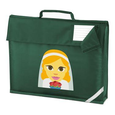 Picture of Emoji Bride With Veil Homework Bag