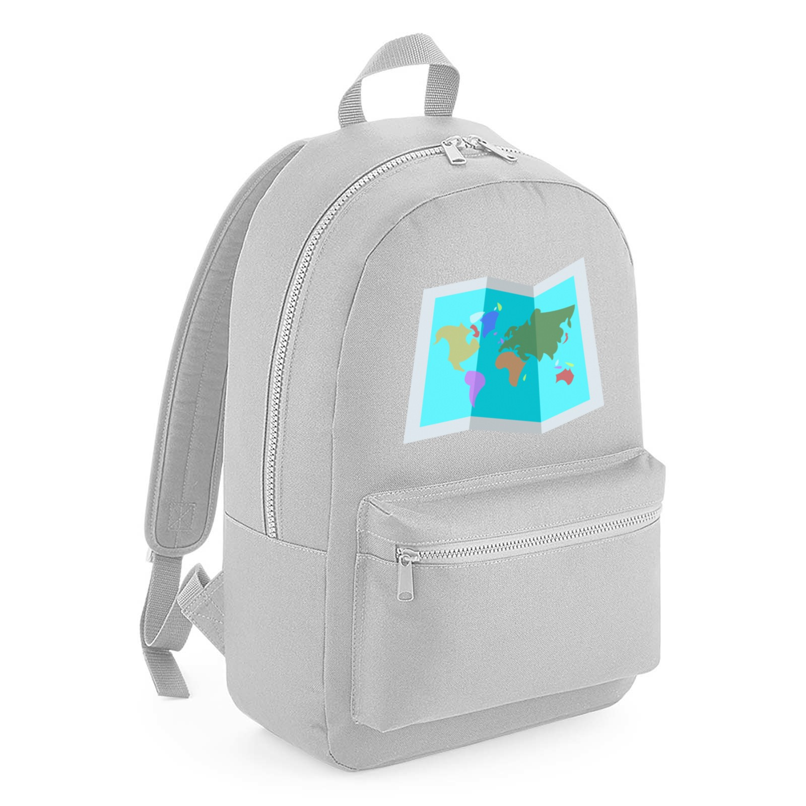 Emoji World Map Kids Backpack Available In Many Colours Free