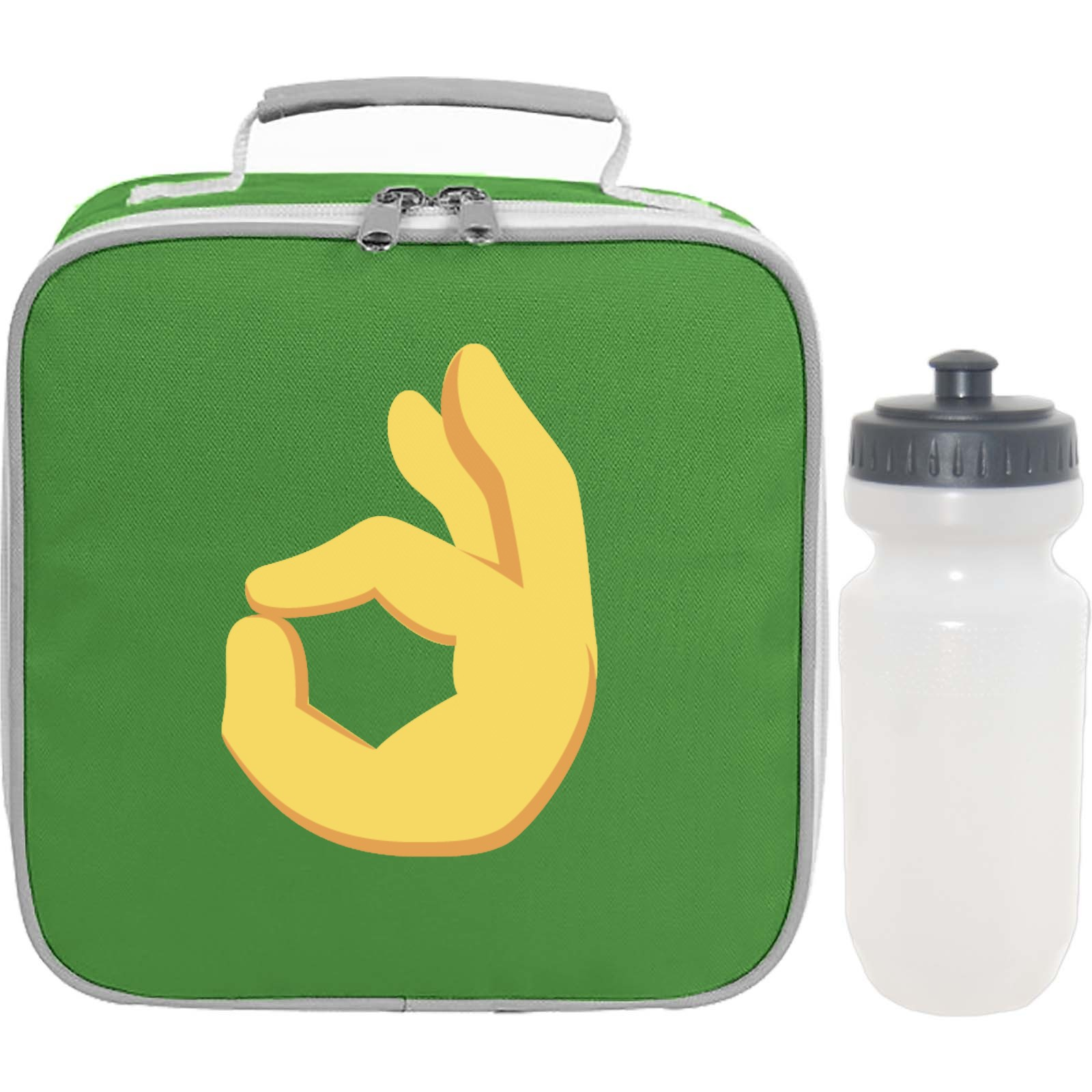 Emoji Ok Hand Sign Lunch Bag And Bottle Available In Many Colours