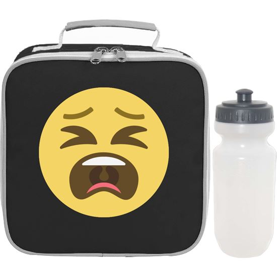 Emoji Tired Face Lunch Bag And Bottle