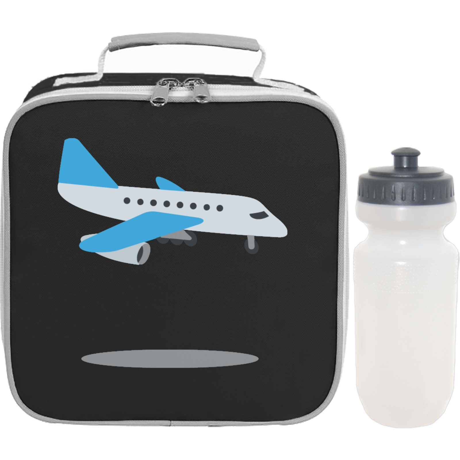 Emoji Airplane Arriving Lunch Bag Bottle Set. Available in many ... cbd5594f86964