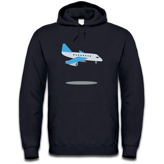 Picture of Emoji Airplane Arriving Mens Hoodie