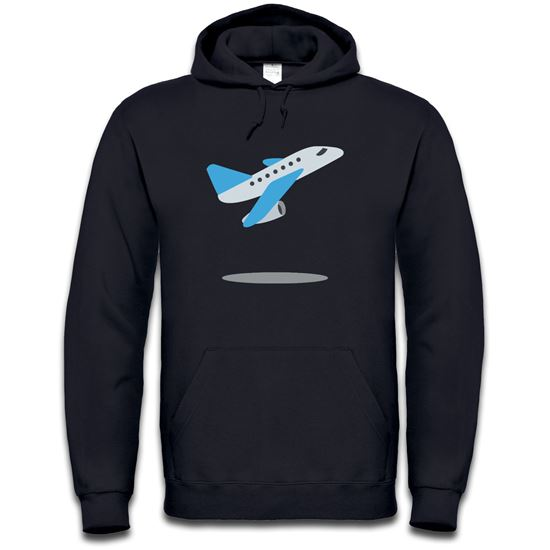 Picture of Emoji Airplane Departure Mens Hoodie