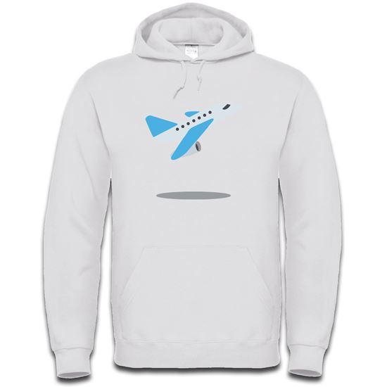 Picture of Emoji Airplane Departure Mens Hoodie