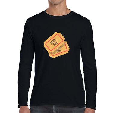 Picture of Emoji Admission Tickets Mens Long Sleeve Tshirt