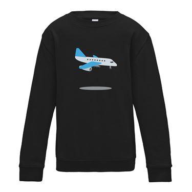 Picture of Emoji Airplane Arriving Mens Sweatshirt