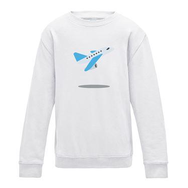 Picture of Emoji Airplane Departure Mens Sweatshirt