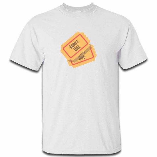 Picture of Emoji Admission Tickets Mens Tshirt