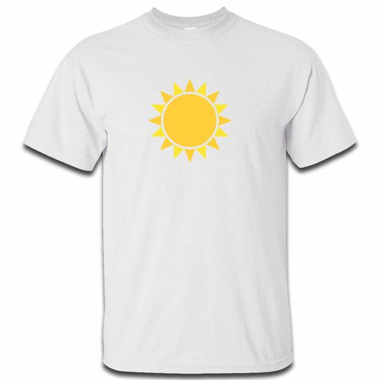 Picture of Emoji Black Sun With Rays Mens Tshirt