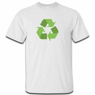 Picture of Emoji Black Universal Recycling Symbol Mens Tshirt