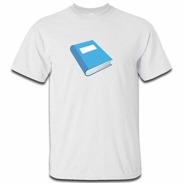 Picture of Emoji Blue Book Mens Tshirt