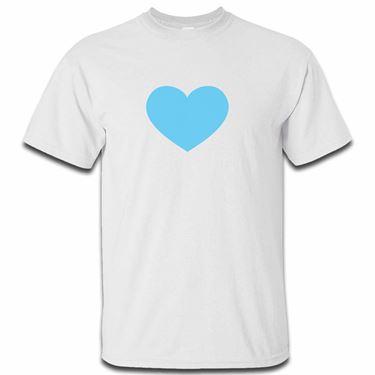 Picture of Emoji Blue Heart Mens Tshirt