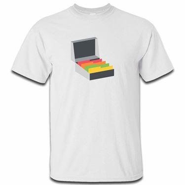 Picture of Emoji Card File Box Mens Tshirt