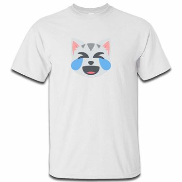 Picture of Emoji Cat Face With Tears Of Joy Mens Tshirt