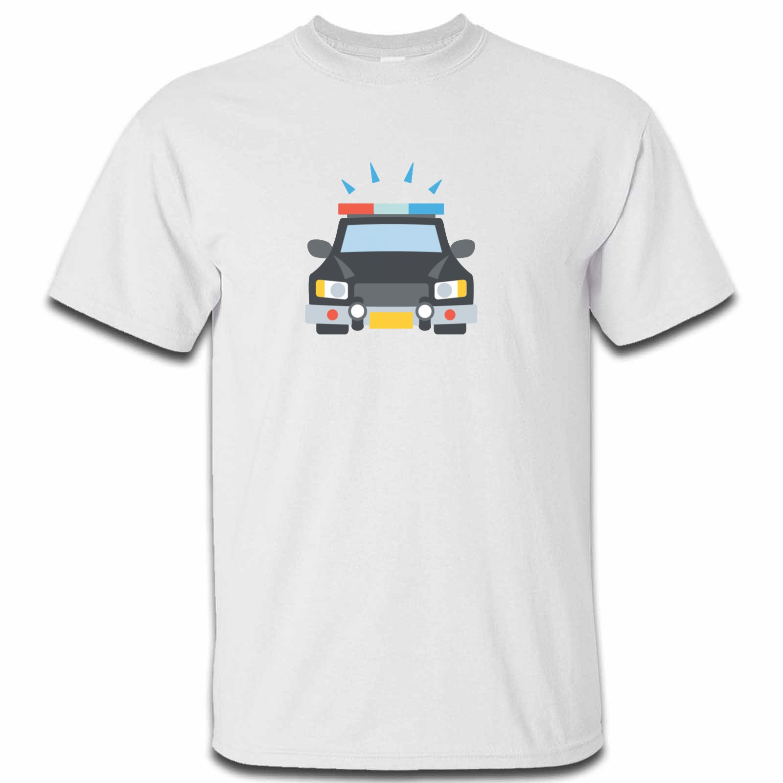 Emoji Oncoming Police Car Mens Tshirt Available In Many Colours