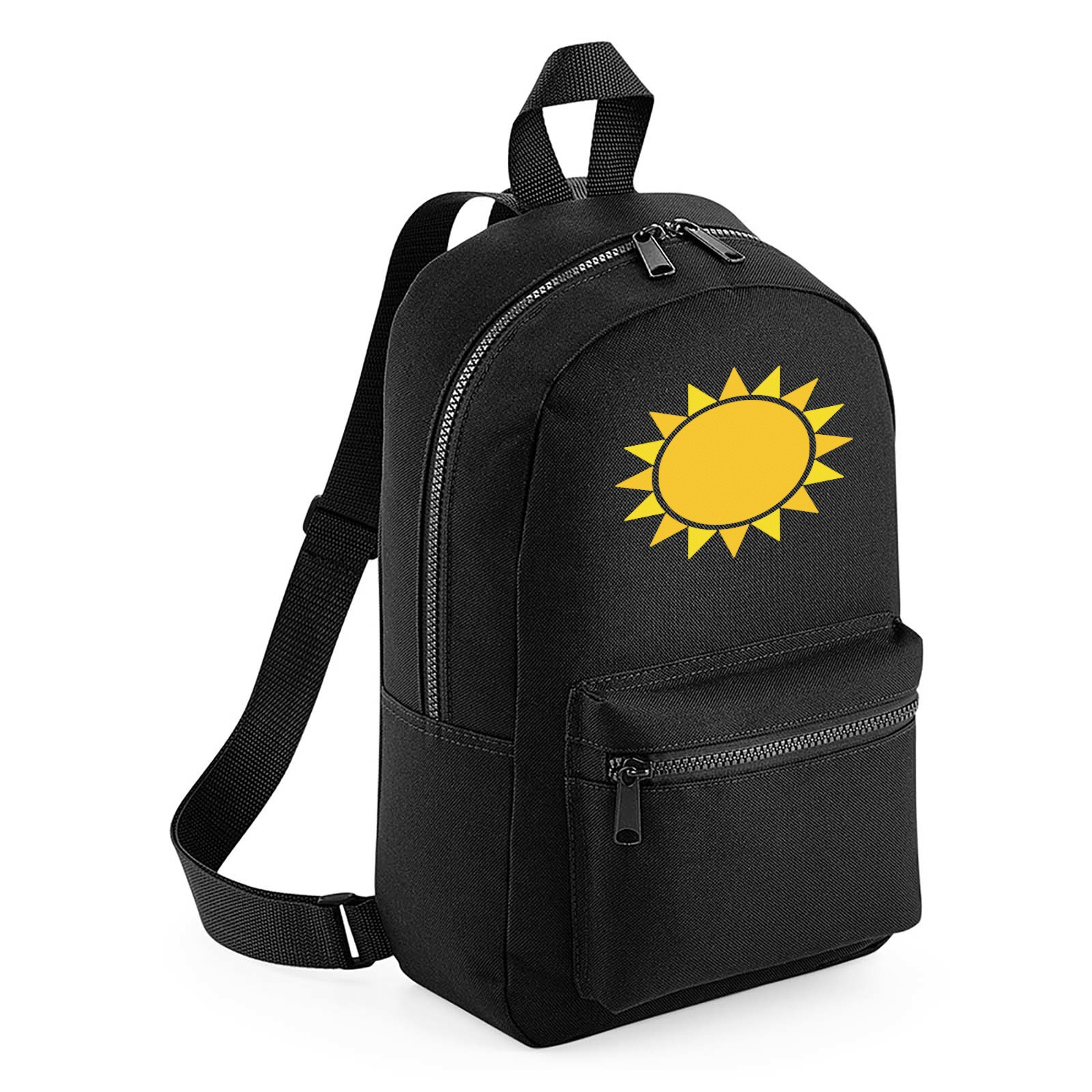 Emoji Black Sun With Rays Mini Backpack. Available in many colours ... ffa938a51bc3c