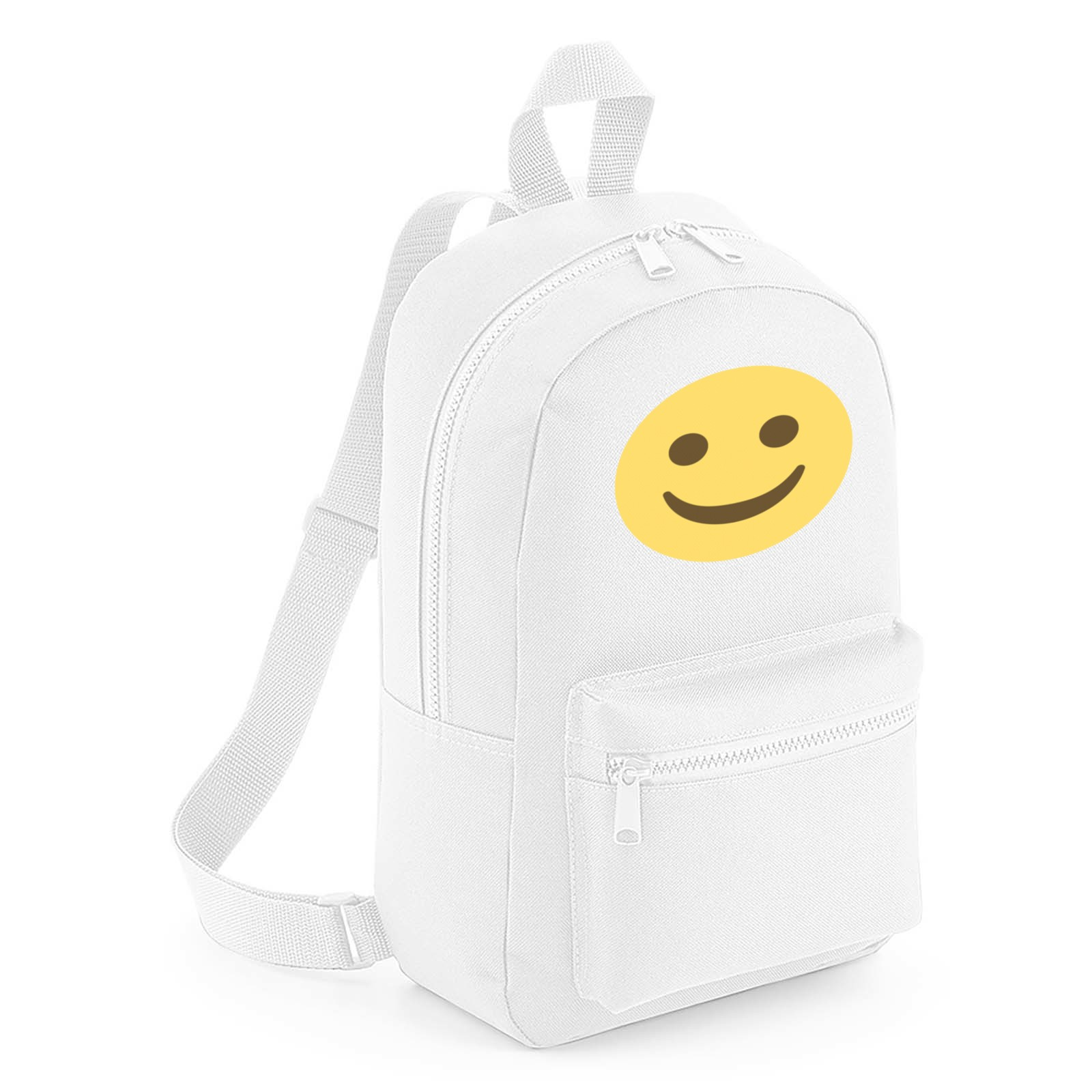b1766801030f Emoji White Smiling Face Mini Backpack. Available in many colours ...