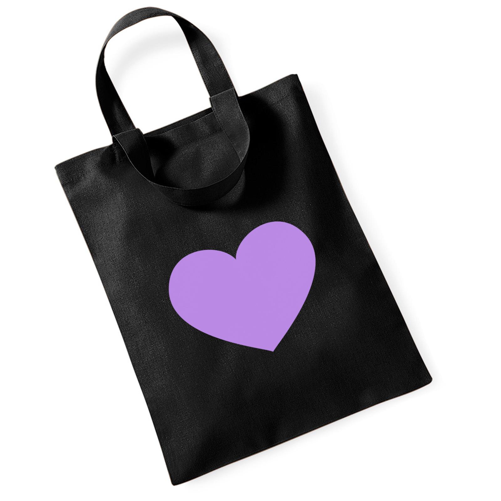 picture of emoji purple heart mini bag for life