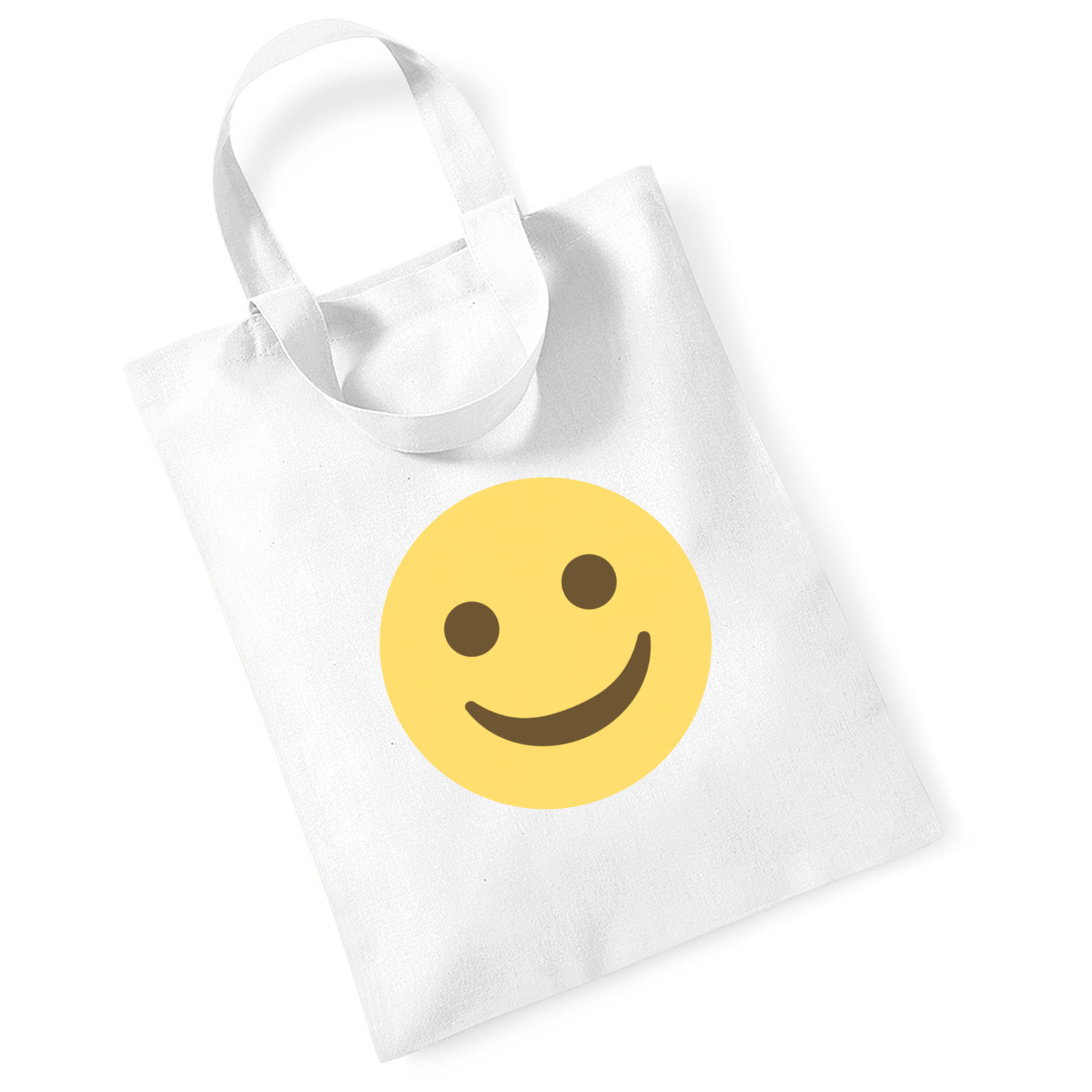 df48ae5fd110 Emoji White Smiling Face Mini Bag For Life. Available in many ...