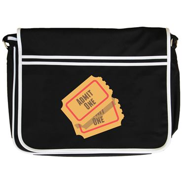 Picture of Emoji Admission Tickets Retro Messenger Bag