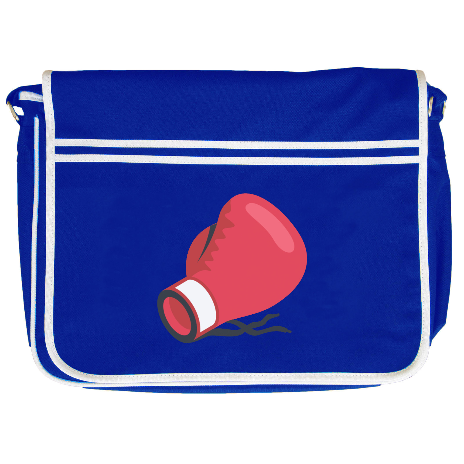 emoji boxing glove retro messenger bag available in many colours