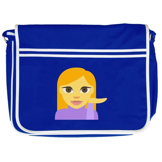 Strange Emoji Information Desk Person Retro Messenger Bag Download Free Architecture Designs Scobabritishbridgeorg