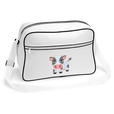Emoji Cow Retro Shoulder Bag