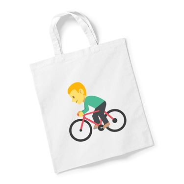 Picture of Emoji Bicyclist Reusable Bag For Life