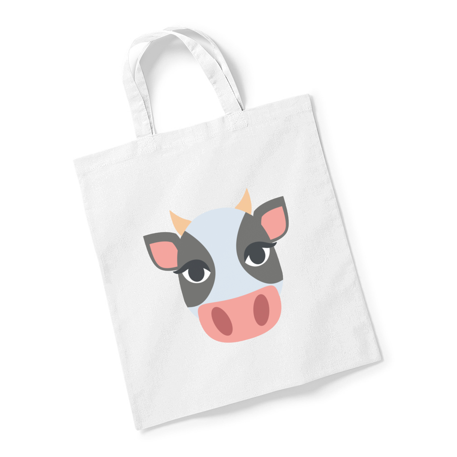 Picture Of Emoji Cow Face Reusable Bag For Life