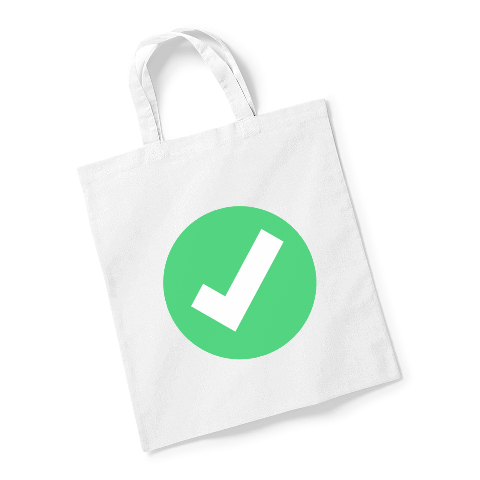 emoji white heavy check mark reusable bag for life available in